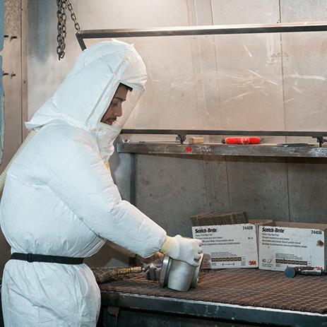 Man in Hazard Materials Suit
